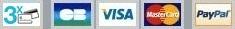 Paiement sécurisé 3x CB, CB, VISA, MASTERCARD et PayPal