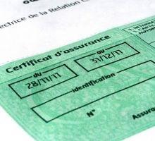 Copie de l'attestation d'assurance française du véhicule